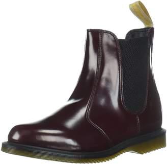 Dr. Martens Women's Vegan Flora Cherry Ankle Boot, Red, 5 Medium UK (7 US)