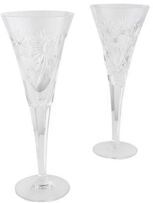 Waterford Pair of Millennium Champagne Flutes