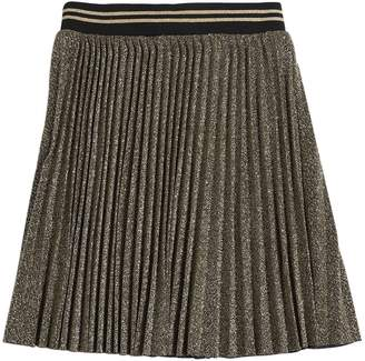 Little Marc Jacobs Pleated Lurex Skirt