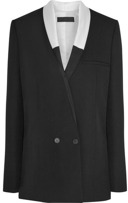 Haider Ackermann - Satin-trimmed Wool Blazer - Black $1,905 thestylecure.com