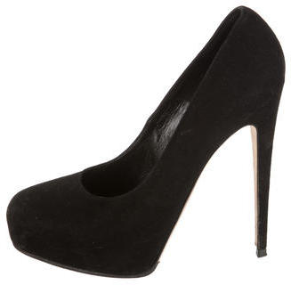 Brian Atwood Suede Round-Toe Pumps $115 thestylecure.com