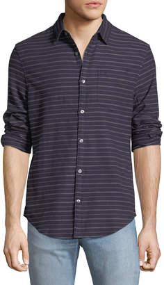 Original Penguin Heathered-Stripe Flannel Shirt