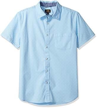 Lee Men's Size Short Sleeve Button Down Dress Shirt Camp Regular Big Tall
