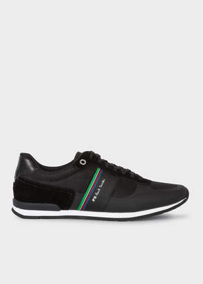 Paul Smith Men's Black 'Ericson' Trainers With 'Cycle Stripe' Detail