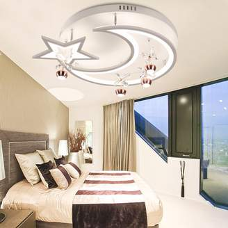 XHOPOS HOME-bathroom taps XHOPOS HOME Ceiling Light Modern Minimalist LED Round Bedroom Moon Home Lighting 520*520*190Mm Dimming