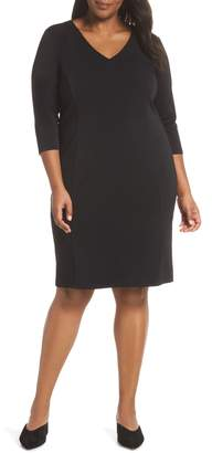 Sejour Seamed Crepe Dress