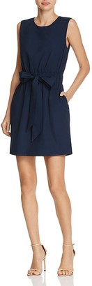 MILLY Ana Tie-Waist Shift Dress $365 thestylecure.com