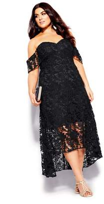 City Chic Citychic Entrancing Dress - black
