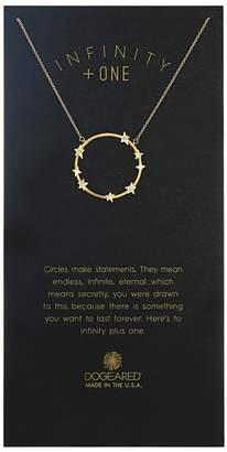 Dogeared Infinity + One, Large Crystal Halo Necklace Necklace