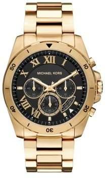 Michael Kors Brecken Goldtone Chronograph Watch