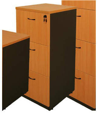 Logan Three-Door Filing Cabinet Finish: Beech