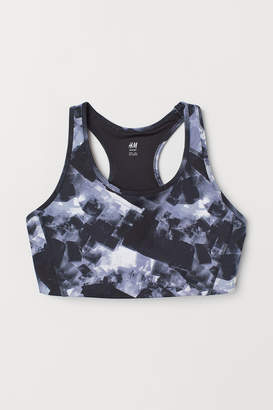 H&M H&M+ Medium Support Sports Bra - Blue