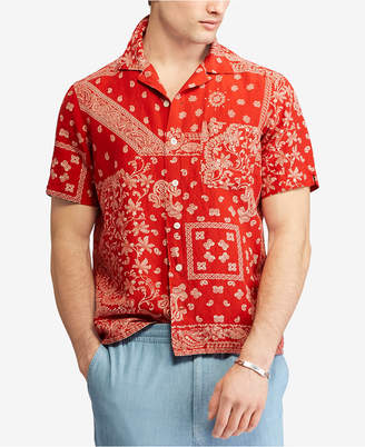 Polo Ralph Lauren Men's Bandana Print Classic-Fit Short-Sleeve Shirt