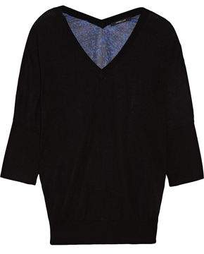 Derek Lam Paneled Cashmere And Silk-Blend Sweater