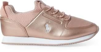 Ralph Lauren Reygan Metallic Sneaker