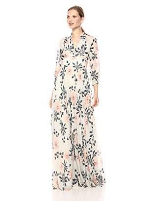 ML Monique Lhuillier Women's Printed Maxi Gown