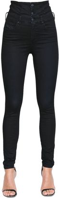 Skinzee Corset Stretch Denim Jeans $248 thestylecure.com
