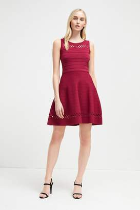 French Connenction Kai Crepe Knit Fit and Flare Dress