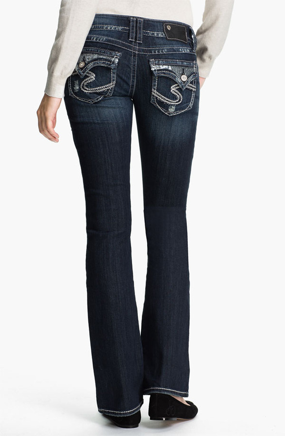 Silver Jeans Co. 'Dawson' Boot-cut Jeans (Juniors)