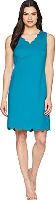 Nine West Women's a-Line Scalloped Dress