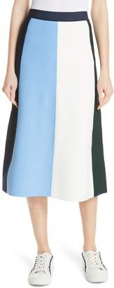 Tory Sport Vertical Block Tech Knit Skirt