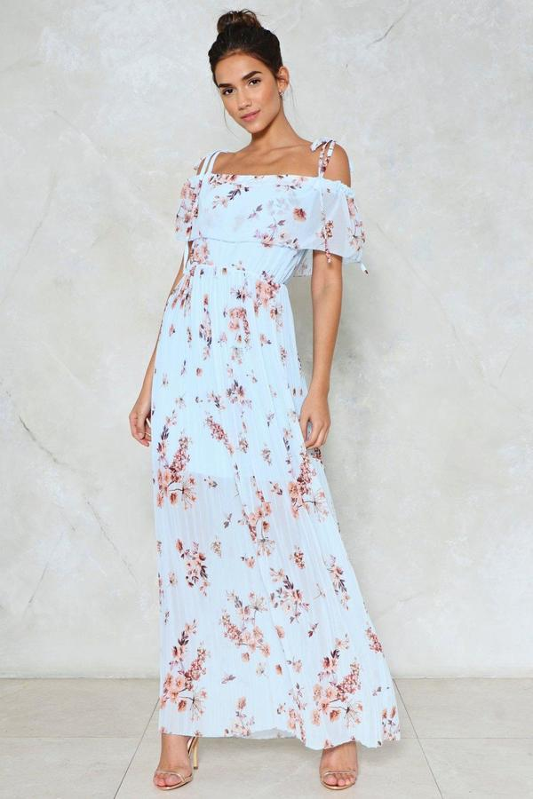 nastygal Petal in a Day's Work Floral Dress