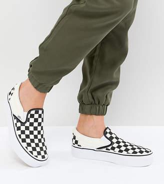 at ASOS · Vans Platform Slip On Trainers In Checkerboard d5bece3dc