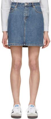 A.P.C. Indigo Standard Washed Denim Miniskirt