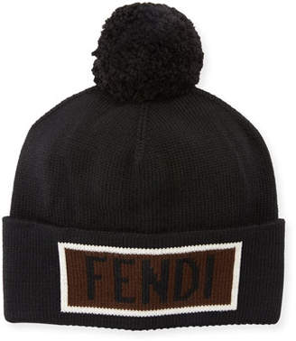 d8c992b22f5 Fendi Men s Vocabulary Pompom Beanie Hat