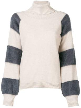 Eleventy striped sleeves sweater