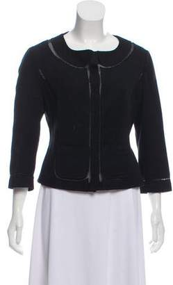 Philosophy di Alberta Ferretti Collarless Knit Blazer