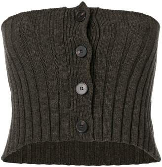 Ports 1961 strapless knitted top