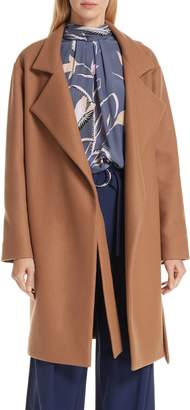 Diane von Furstenberg Belted Wool Blend Wrap Coat
