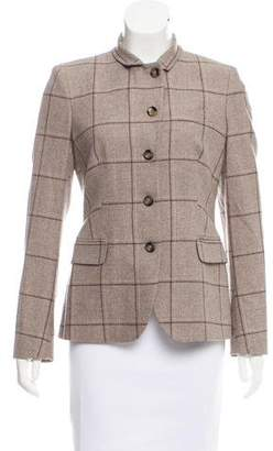 Luciano Barbera Plaid Wool Jacket