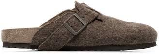Rick Owens x Birkenstock brown Boston wool felt sandals