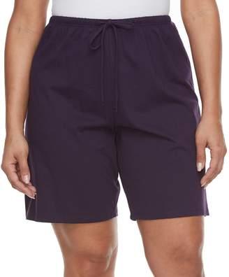 Jockey Plus Size Pajamas: Purple Bermuda Pajama Shorts