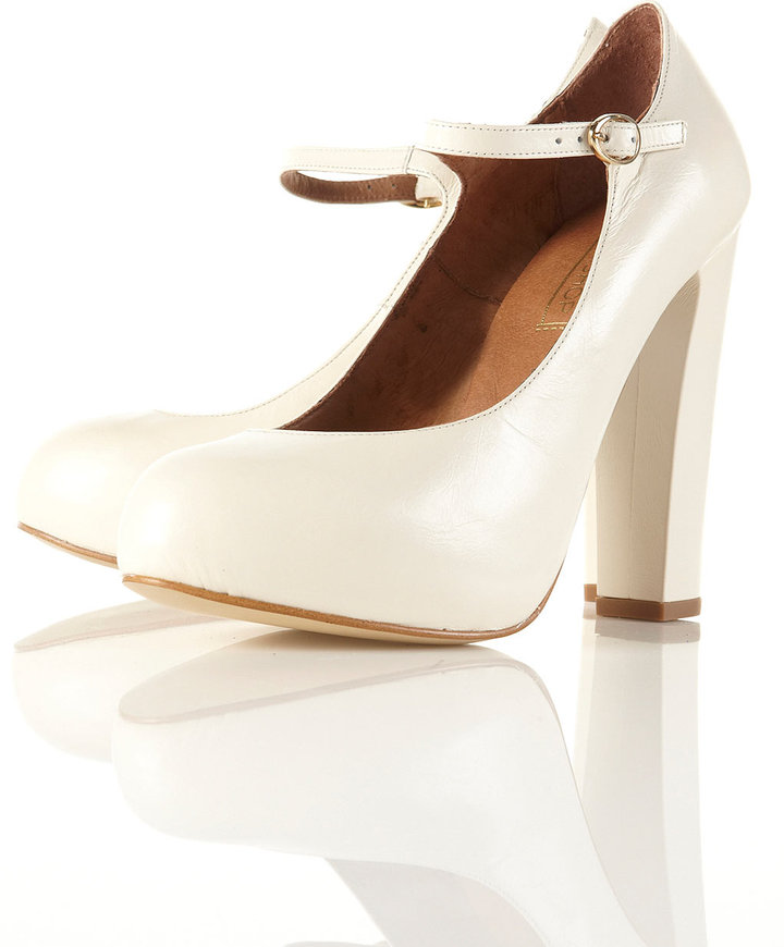 GOSFORD Off White Mary Jane Heels