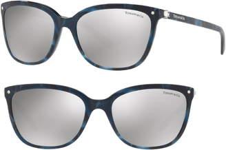 Tiffany & Co. 55mm Mirrored Square Sunglasses