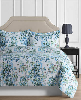Tribeca Living Madrid Printed Leaves Oversized Twin Duvet Cover Set Bedding