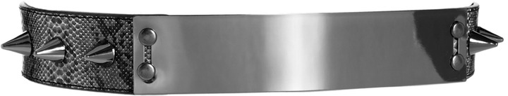 Asos Snake Plate And Spike Detail Waist Belt