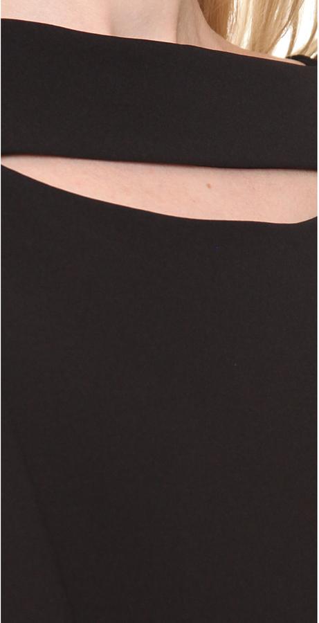Thierry Mugler Milano Keyhole Mini Dress