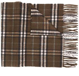 Burberry checked fringe scarf