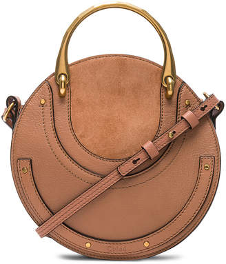 Chloé Small Pixie Shiny Goatskin, Calfskin & Suede Double Handle Bag