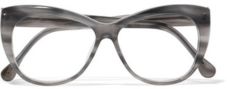 Elizabeth and James - Clarence Cat-eye Acetate Optical Glasses - Gray $180 thestylecure.com