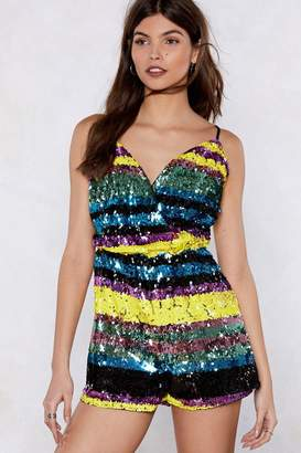 Nasty Gal I'm So Excited Sequin Romper