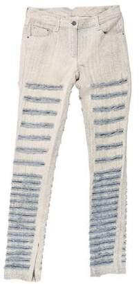3.1 Phillip Lim Distressed Mid-Rise Jeans