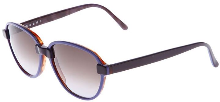 Marni oval frame sunglasses