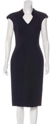 Zac Posen Cap Sleeve Midi Dress