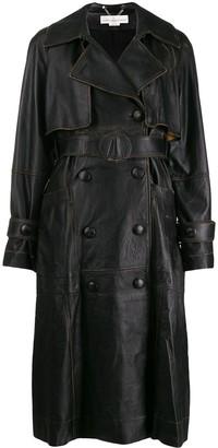 Golden Goose vintage style leather coat