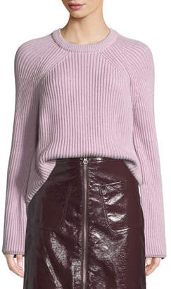 McQ Ribbed Lace-Up Pullover Sweater